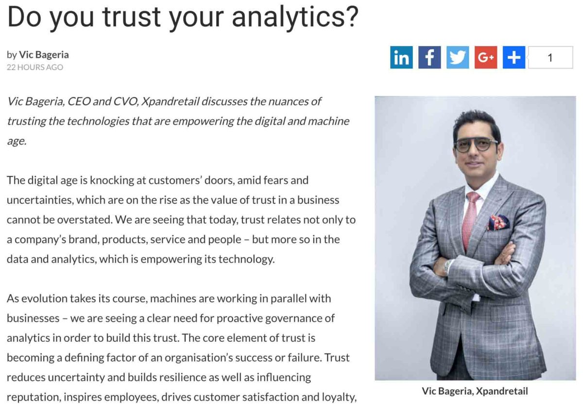 Trust Your Analytics, retail analytics, people counting, vic bageria, xpandretail, savant data system