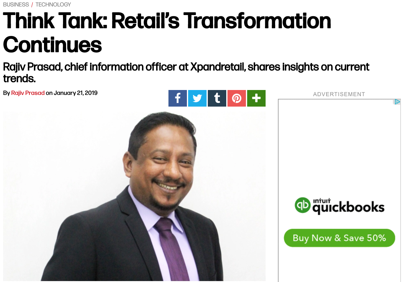 retail, rajiv prasad, analytics, retail analytics